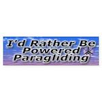 I'd Rather Be Powered Paragliding Bumper Sticker