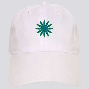 Green and Blue Flower Cap