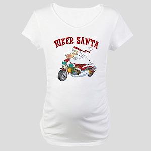 Biker Santa Maternity T-Shirt