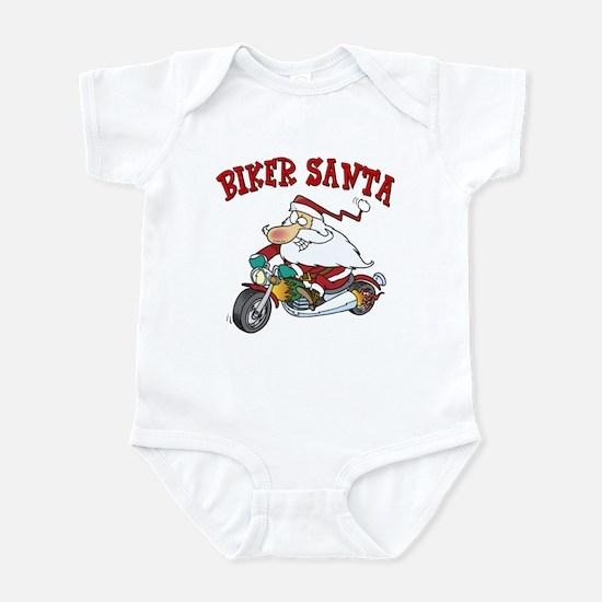 Biker Santa Infant Bodysuit