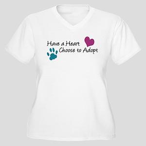 Have a Heart Women's Plus Size V-Neck T-Shirt
