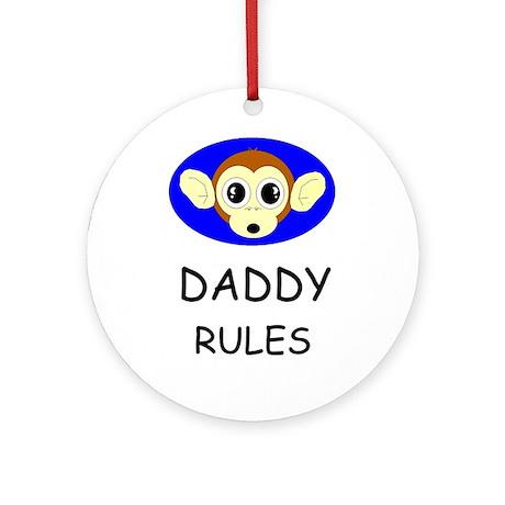 DADDY RULES Keepsake (Round)
