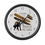 Wright Brothers American Progress Large Wall Clock