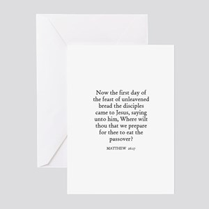MATTHEW  26:17 Greeting Cards (Pk of 10)