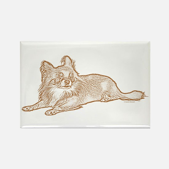 Chihuahua (sketch) Rectangle Magnet