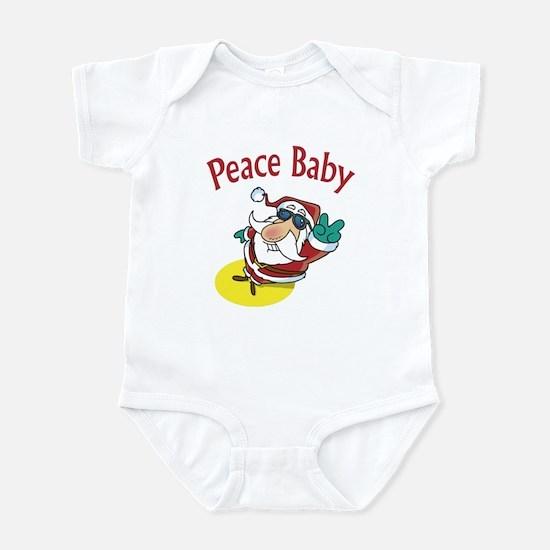Peace Santa Infant Bodysuit