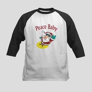 Peace Santa Kids Baseball Jersey