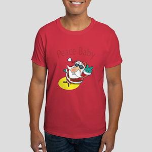 Peace Santa Dark T-Shirt