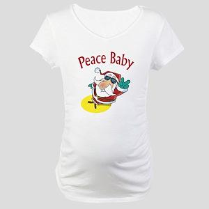 Peace Santa Maternity T-Shirt