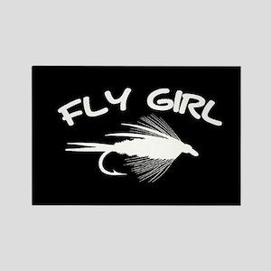 FLY GIRL - RECTANGLE MAGNET