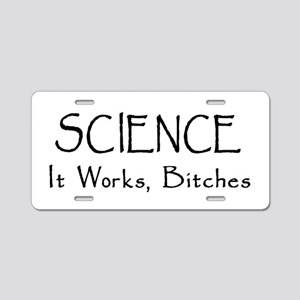 Science Works Aluminum License Plate