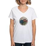 Rocky Alpine Bouquet Women's V-Neck T-Shirt