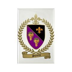 SURETTE Family Crest Rectangle Magnet (100 pack)