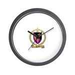 SURETTE Family Crest Wall Clock