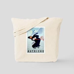 Austria Skiing Skier Tote Bag