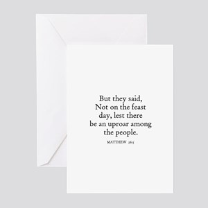 MATTHEW  26:5 Greeting Cards (Pk of 10)