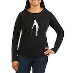 Girl Fencer Silhouette Women's Long Sleeve Dark T-