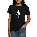 Girl Fencer Silhouette Women's Dark T-Shirt