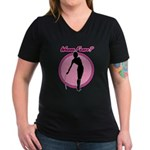 Wanna Fence? Women's V-Neck Dark T-Shirt