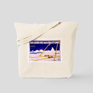 Bavarian Alps Skiing Tote Bag