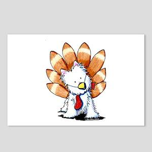 Thankful Turkey Westie Postcards (Package of 8)