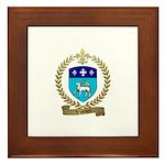 VILLEDIEU Family Crest Framed Tile