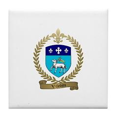 VILLEDIEU Family Crest Tile Coaster