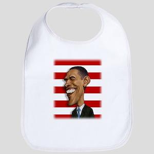 Barack Obama Caricature Bib