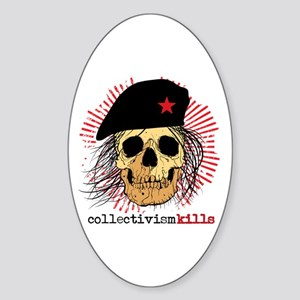 Collectivism Kills Oval Sticker