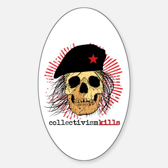 Collectivism Kills Oval Decal
