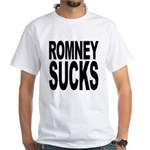 Romney Sucks White T-Shirt