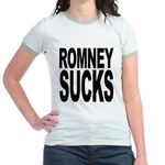Romney Sucks Jr. Ringer T-Shirt