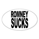 Romney Sucks Oval Sticker (10 pk)