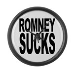 Romney Sucks Large Wall Clock
