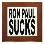 Ron Paul Sucks Framed Tile