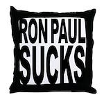 Ron Paul Sucks Throw Pillow