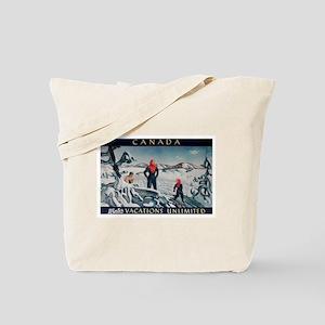 Ski Skiing Canada Tote Bag