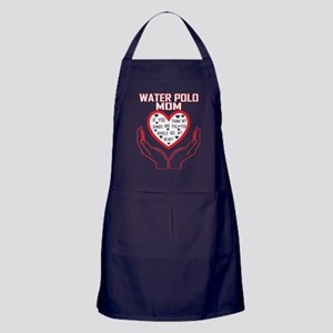 Water Polo Mom You Think My Hands Ful Apron (dark)