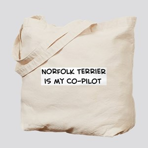 Norfolk Terrier is my Co-pilo Tote Bag