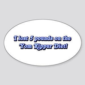 Yom Kippur Shirts Oval Sticker