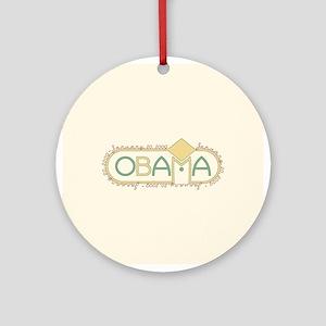 Obama Inauguration Keepsake Ornament (Round)