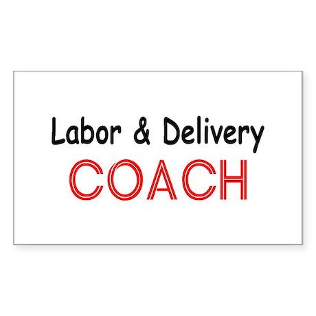 Labor & Delivery Coach Rectangle Sticker
