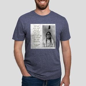 Sitting Bull Quote Ash Grey T-Shirt