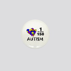 Autism (1 in every 150) Mini Button