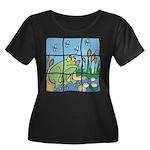 Frog Women's Plus Size Scoop Neck Dark T-Shirt