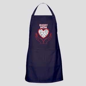 Rugby Mom You Think My Hands Full See Apron (dark)