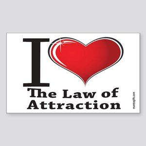 Love the Law of Attraction Rectangle Sticker