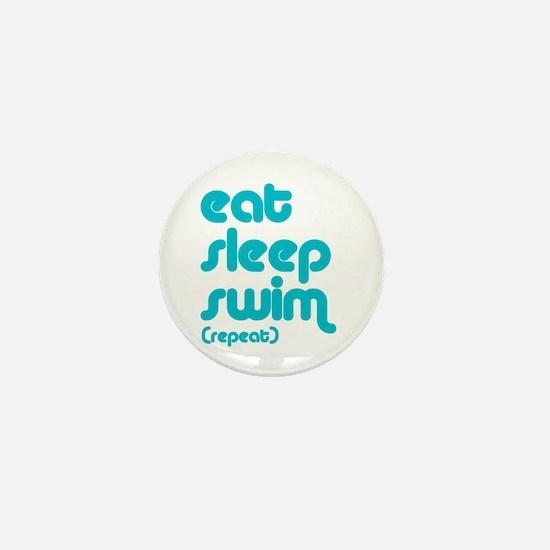 Eat, Sleep, Swim Mini Button