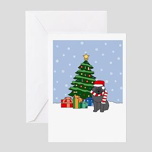 Keeshond Howling Holiday Greeting Card