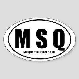MSQ Misquamicut Beach RI Euro Oval Sticker
